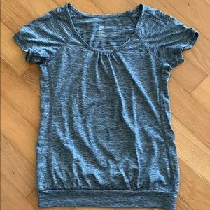 H&M ATHLETIC Yoga top heathered gray sz XS